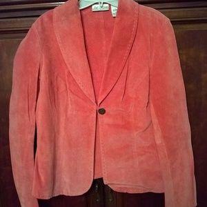 Light Orange Suede Jacket, Size M